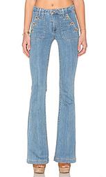 Расклешенные от колена джинсы высокой посадки - Paige Denim