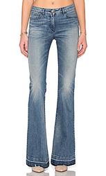 Расклёшенные от колена джинсы средней посадки w2.5 - 3x1