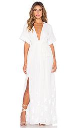 Макси платье с разрезом и вышивкой - Mara Hoffman