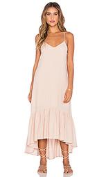 Платье до лодыжек с оборкой - Lucca Couture