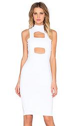 Миди платье с ленточным вырезом - Donna Mizani