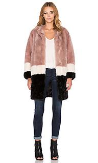 Меховая куртка с колорюлок - Maison Scotch