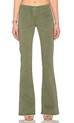 Расклёшенные джинсы в стиле милитари - 3x1