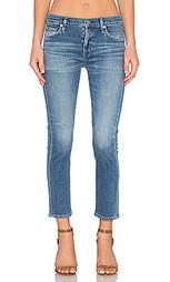 Прямые укороченные джинсы средней посадки agnes - Citizens of Humanity