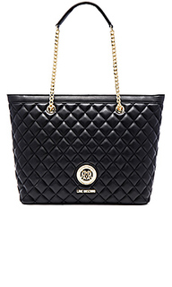 Сумка тоут quilted - Love Moschino