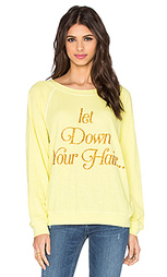 Свитшот let down your hair - Wildfox Couture