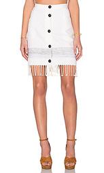 Трапециевидная юбка с бахромой - Fifteen Twenty