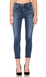 Укороченные облегающие джинсы с высокой посадкой sophie - AGOLDE