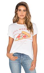 Футболка с рисунком will work for pizza - The Laundry Room