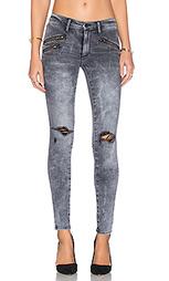 Узкие брюки с молнией billie - Black Orchid