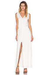 Макси платье с разрезом и v-образным поясом - BLQ BASIQ