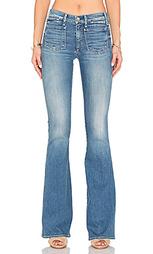 Расклёшенные джинсы с гульфиком на болтах majorelle - MCGUIRE