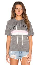 Свитшот с короткими рукавами sunday stripes - SUNDRY