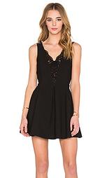 Кружевное платье с v-образным вырезом - IKKS Paris