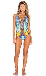 Слитный купальник lace up - Camilla