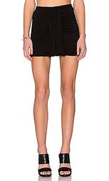 Мини юбка с драпировкой по бокам - Bella Luxx
