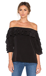 Блуза с открытыми плечами monroe - L'AGENCE