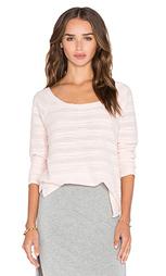 Свободный полосатый пуловер - Bella Luxx