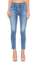 Укороченные узкие джинсы с высоким поясом carlie - Citizens of Humanity