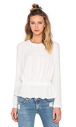 Блуза в мелкий рубчик с приспущенным поясом - Bishop + Young
