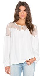 Блуза с кокеткой и сборками - IKKS Paris