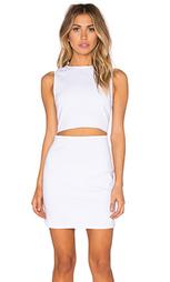 Платье из твила с вырезом на талии - Lucca Couture