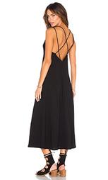 Платье до лодыжек с перекрестными шлейками на спине - Lanston