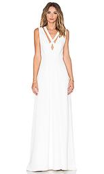 Вечернее платье с перекрестными шлейками спереди - JILL JILL STUART