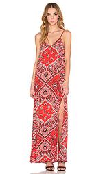 Макси платье с двойным v-образным вырезом - Fifteen Twenty
