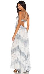 Макси платье с перекрестными бретельками на спине - Blue Life