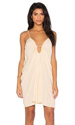 Платье с перекрестной драпировкой на спине - Blue Life