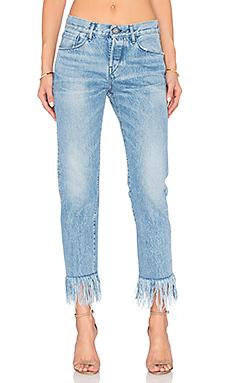Укороченные джинсы straight fringe - 3x1