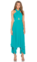 Макси платье с перекрестными шлейками спереди annmarie - BCBGMAXAZRIA