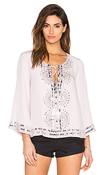 Украшенная блуза с завязкой на шее - Tessora