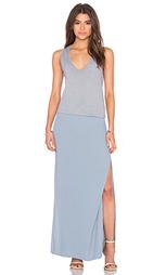 Макси платье с глубоким v-образным вырезом - MONROW