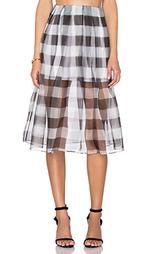 Плиссированная юбка из органзы - KENDALL + KYLIE