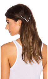 Заколка пряжка для волос с кристаллами vee tapered - LELET NY