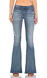 Расклёшенные от колена джинсы средней посадки ellie - Black Orchid