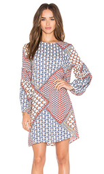 Мини платье ruffle sleeve - WAYF