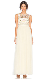 Макси платье с украшением foliage cluster - Needle & Thread