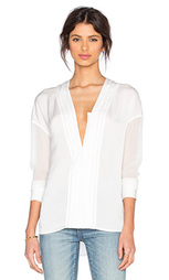 Вышитая блуза с v-образным вырезом - Vince