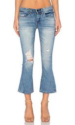Укороченные расклешенные джинсы distressed - BLANKNYC