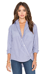 Блуза на пуговицах с запахом poplin - Vince