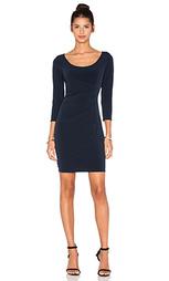 Стрейчевое платье из джерси с рукавами 6/4 gini - Velvet by Graham & Spencer