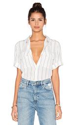 Полосатая блуза с коротким рукавом slim signature - Equipment