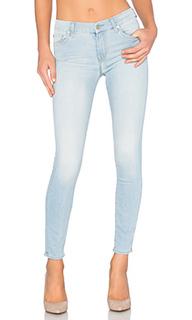 Узкие укороченные джинсы с вышивкой на заднем кармане - 7 For All Mankind