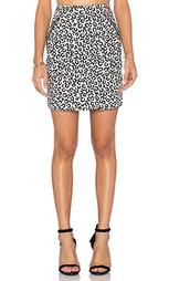 Мини юбка с передними карманами на молнии - Love Moschino