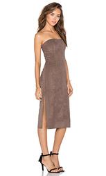 Замшевое платье без рукавов - Halston Heritage