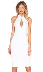 Миди платье с ложным воротником - Donna Mizani