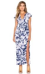 Макси платье с v-образным вырезом и коротким рукавом - LNA